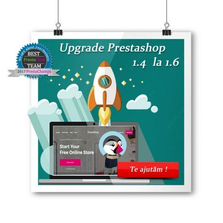 Pachet pentru actualizarea PrestaShop 1.4 la PrestaShop 1.6.1.4
